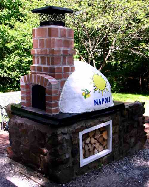 The brick pizza oven Paulie Gee built in his backyard