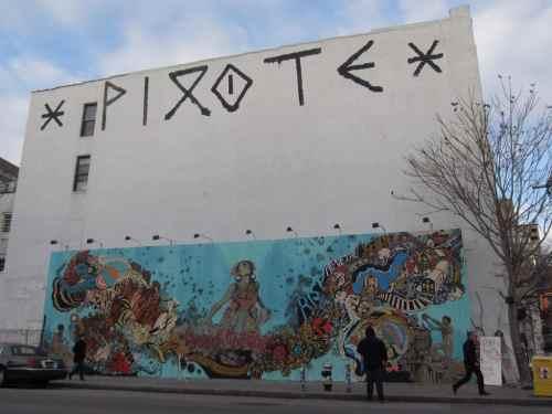 Pixote street art in NYC