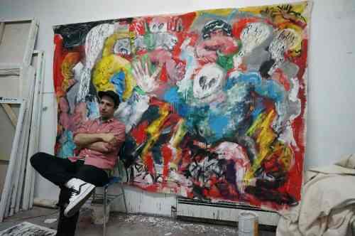 Ted McGrath in his Greenpoint studio