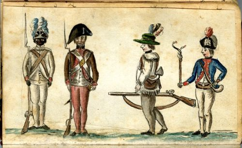 Soldiers in Uniform by Jean Baptiste Antoine de Verger, ca. 1781–84