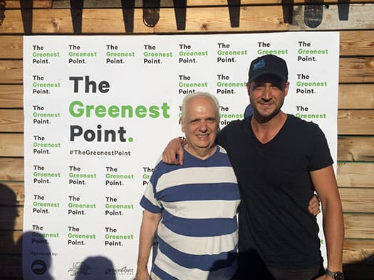Joe Lentol and Stephen Donofrio at The Greenest Point Wrap Party in Northern Territory
