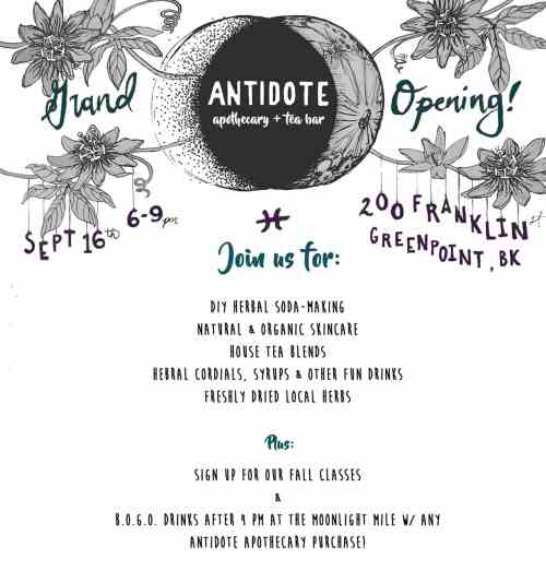Antidote Apothecary + Tea Bar Grand Opening