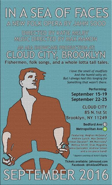 """In a Sea of Faces"" plays now through September 25 at Williamsburg's Cloud City venue."