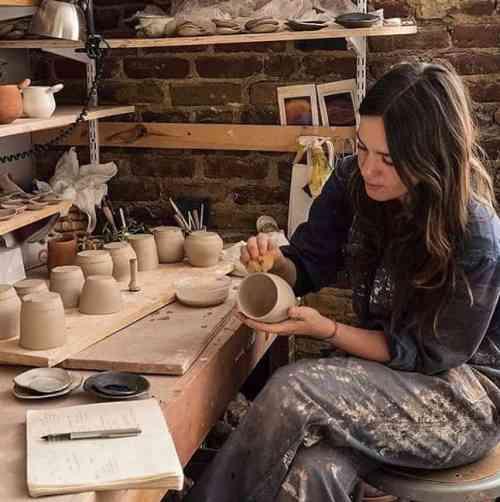 Ivy Weinglass in the studio