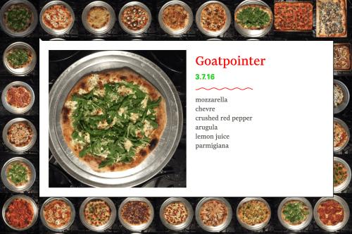 Pizzeria La Ferrera's Goatpointer pizza