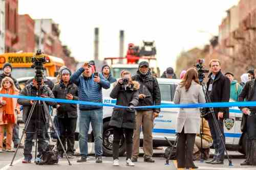 Greenpoint police standoff 3/6/17, Photo by Johnny Cirillo