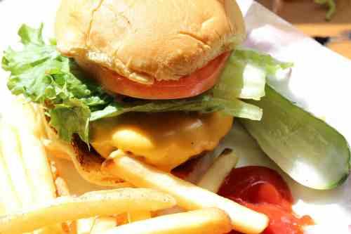 The burger. Humboldt & Jackson Black Tap Popup