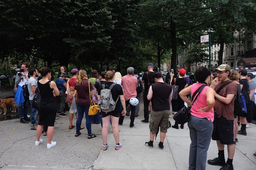 Anti-Nazi Rally in McGolrick Park. Photo by Julia Moak