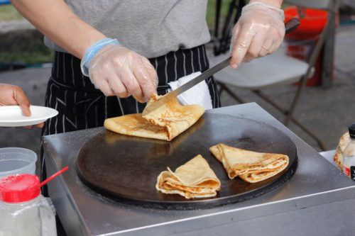 Delicious butter and sugar crêpes from Le Gamin on Franklin Street, at TASTE 2016