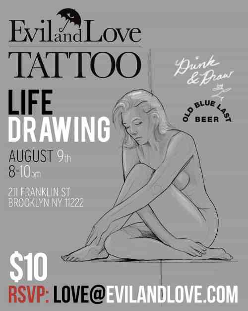 Evil and Love Drink n Draw