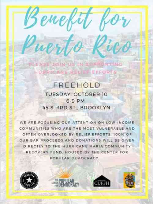 Puerto Rico Benefit @ Freehold