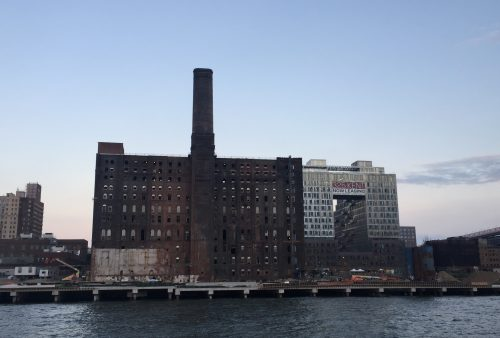 Domino Sugar building, as seen from the ferry.