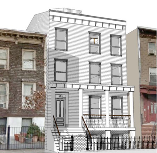 Rendering of the Approved Plans for 111 Noble Street