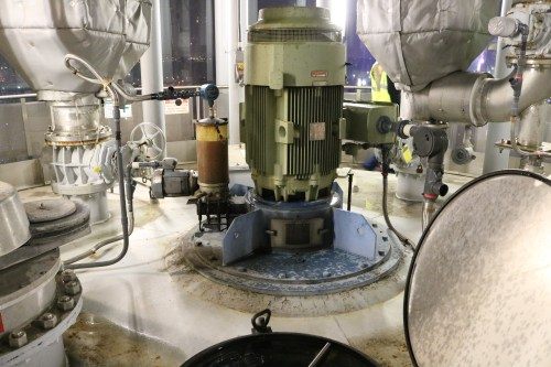 Equipment inside the digester eggs at the Newtown Creek Wastewater Treatment Plant. Photo: Megan Penmann