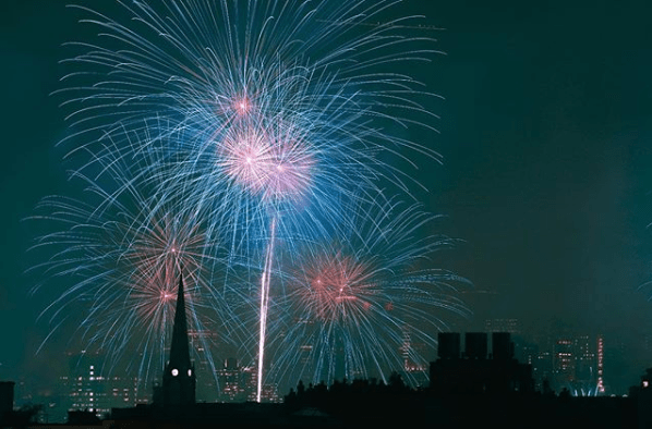4th of July fireworks from Greenpoint. Photo by Johnny Cirillo