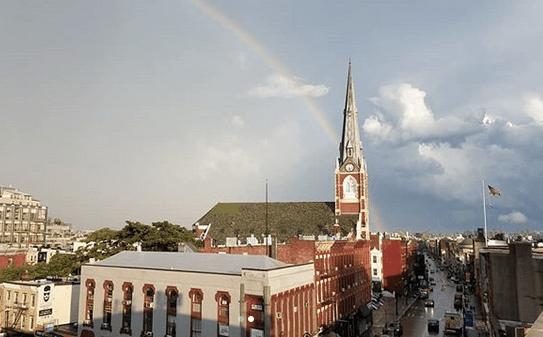 Rainbow over Manhattan Ave