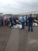 The busy pits.
