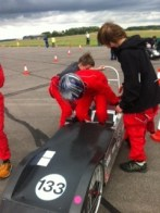 Driver change at Greenpower Merryfield pit lane