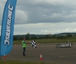 Reaching the chequered flag at greenpower Merryfield heat