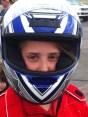Lydia in race trim