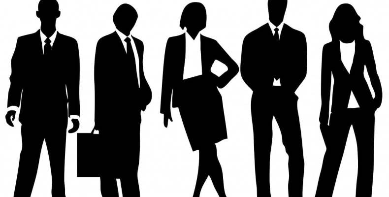 Black Silhouette of Business People