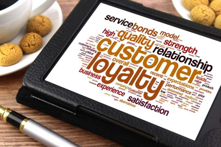 Customer Loyalty on Tablet