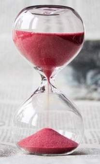 Hourglass with Pink Sand