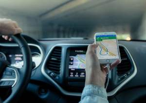 Phone GPS in Car