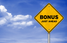 Bonus Ahead Sign