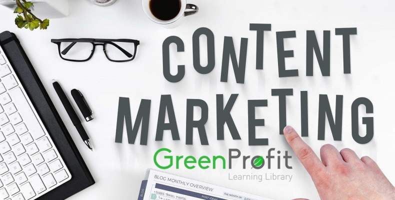 Content Marketing Desk with GreenProfit Learning Library