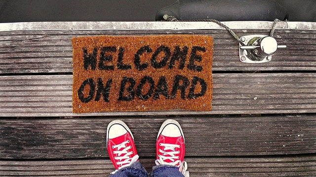 Welcome on Board Dock Mat