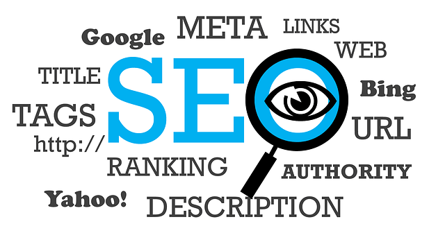 SEO Magnifying Glass Word Map