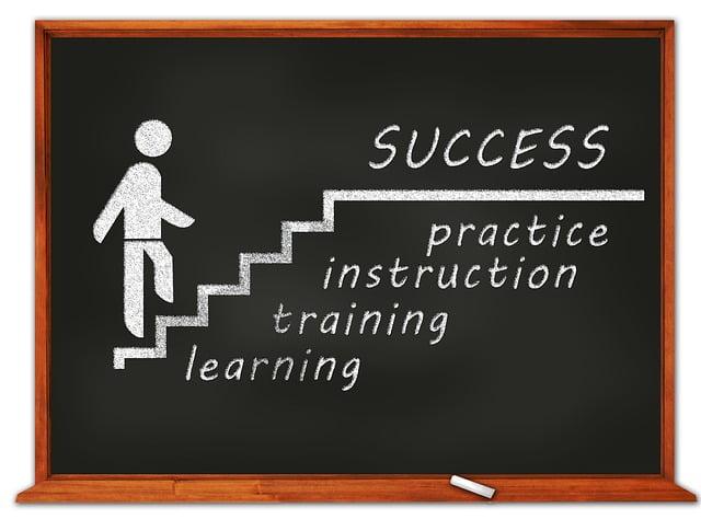 Chalkboard Walk to Success