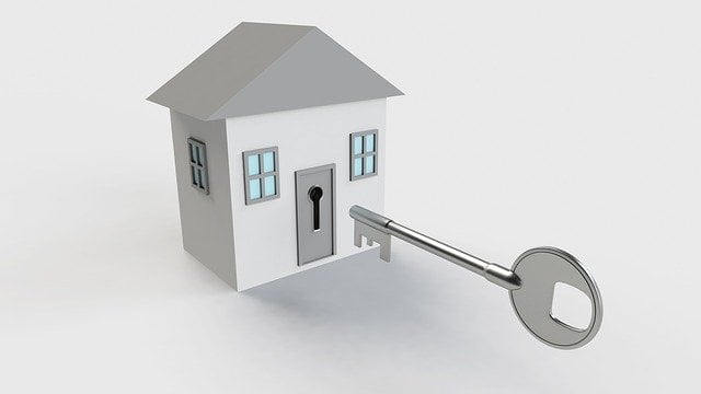 Gray House with Key