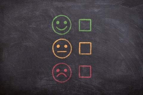 Satisfaction Face Choices Chalkboard