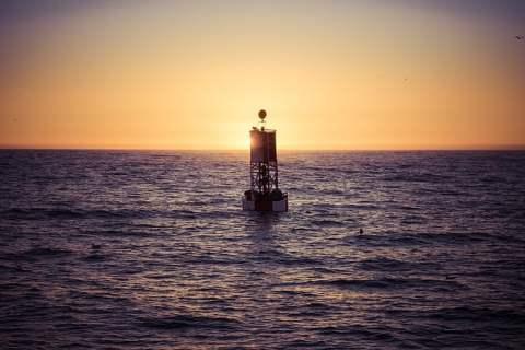 Buoy Against Sunset