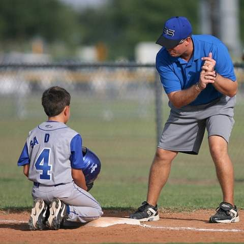 Coach and Baseball Junior Player