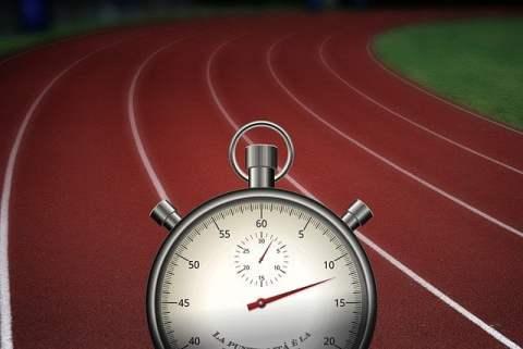 Analog Stopwatch and Running Track