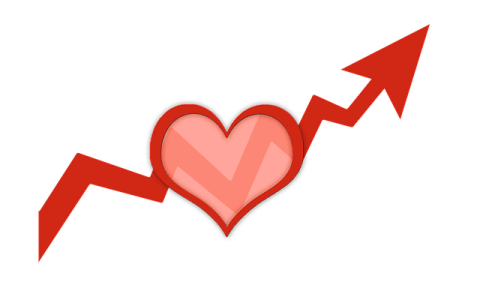 Heart on Increasing Line