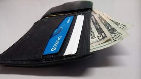 Wallet with Cash and Credit Card