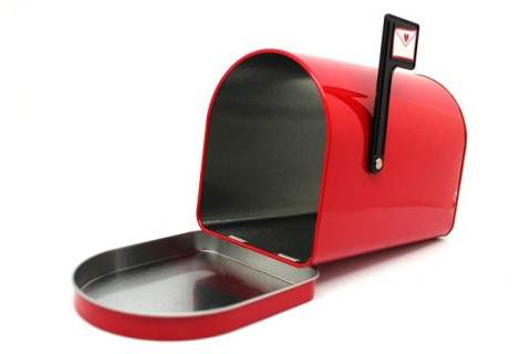 Red Mailbox with Heart on Flag