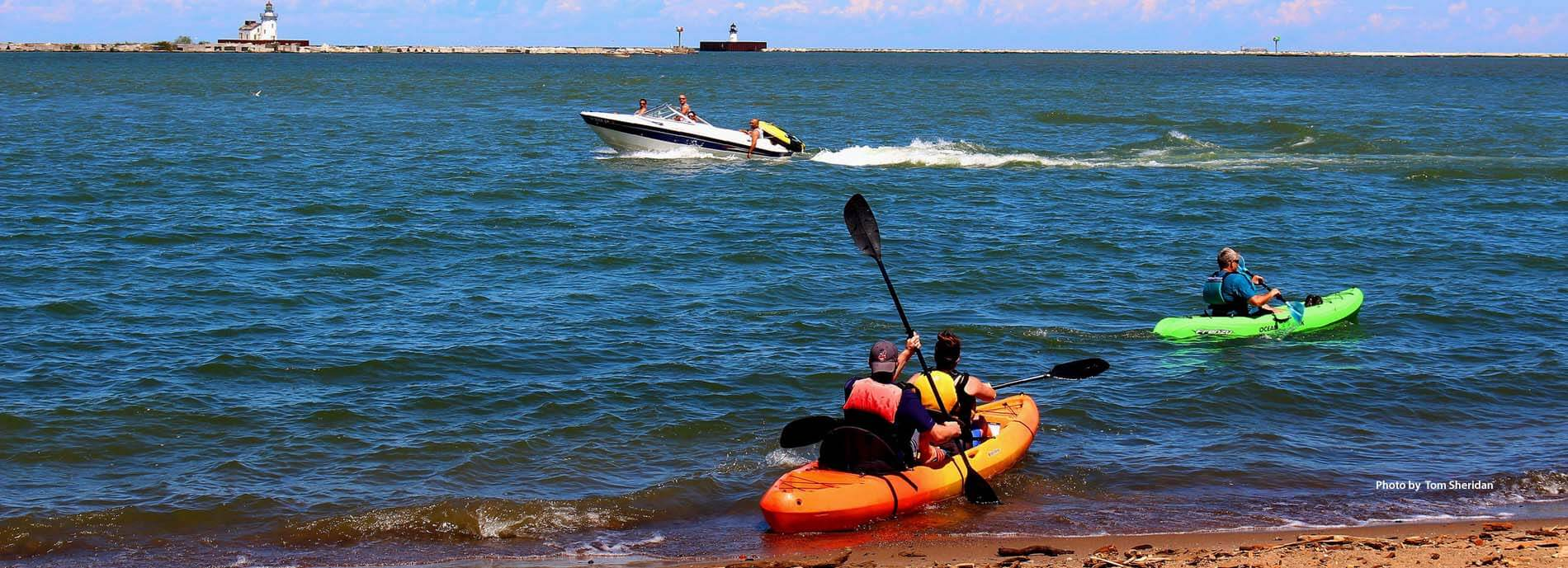 Green Ribbon Coalition Lake Erie Cleveland lakefront recreation, canoeing