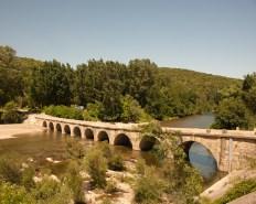 The bridge at Montclus, Gard, France