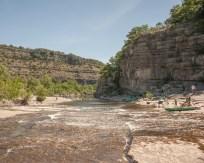 The Chassezac river, Gard, France