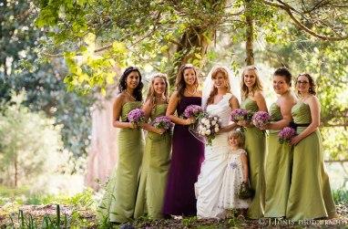 September Bride and Bridesmaids