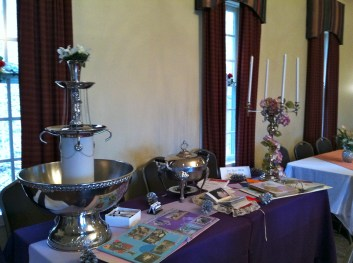 Table setup by Pro-Rent All of Spindale, NC