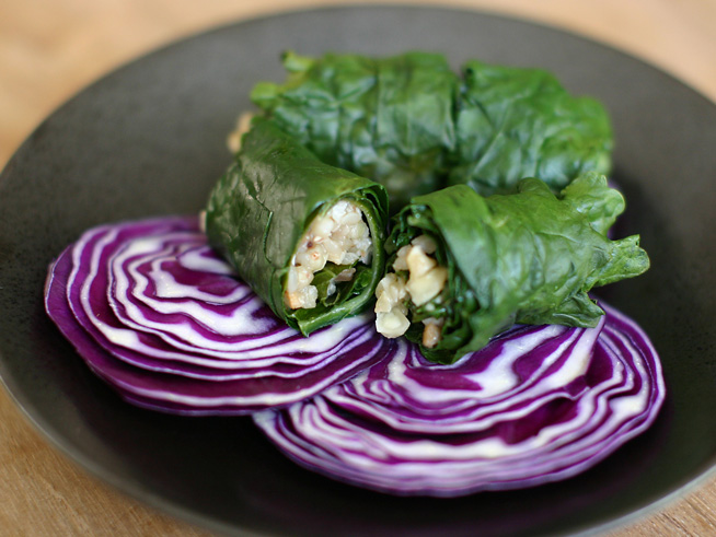 Buckwheat Stuffed Kale Leaves: A Healthy Vegan Recipe