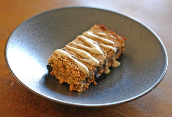 Vegan Oatmeal Breakfast Bars with Icing