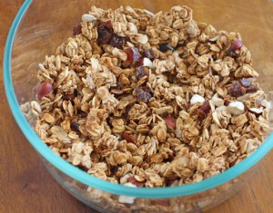 Homemade Granola for our Healthy Vegan Acai Bowl