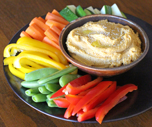 Roasted Garlic & Bell Pepper Hummus